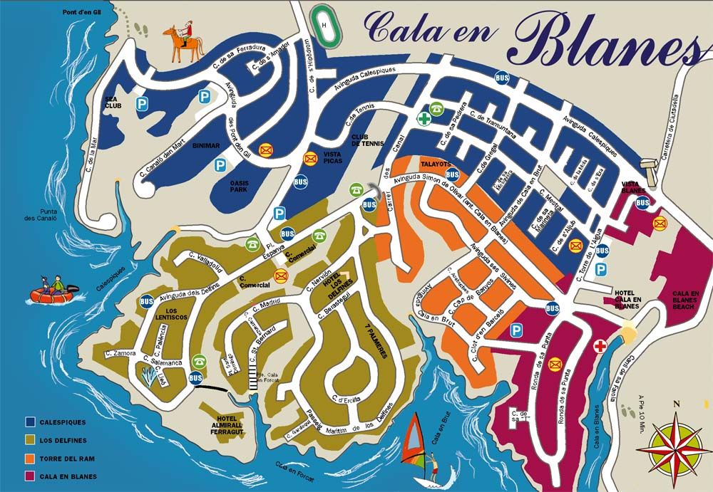 Calan Forcat Maps and Brochures