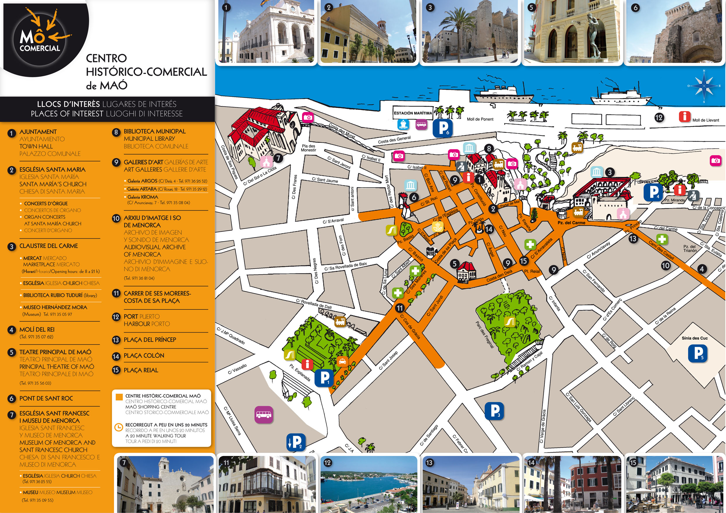 Mahon Maps and Brochures
